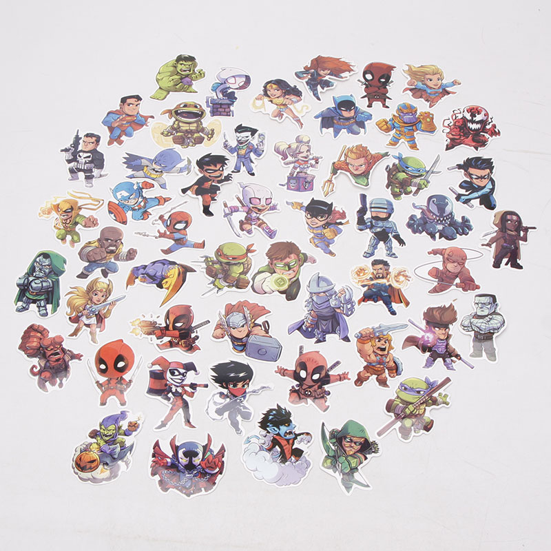 Image 2 - 101pcs/set Marvel Toys Avengers Endgame Stickers Super Hero Hulk Iron Man Spiderman Captain American Car Sticker for Luggage-in Action & Toy Figures from Toys & Hobbies