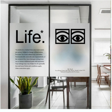 window glass stickers Nordic English scrub electrostatic frosted film toilet transparent opaque