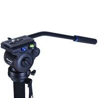 Manbily Video Kamera Sönümleme Sıvı Tripod Başkanı Hidrolik Kafa Panoramik Kafa Kaymak Monopod için DSLR Kamera Çekim Video Film