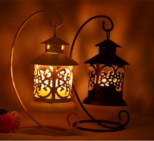 Rustic Wooden Tea Light Holder Free Shipping: Classical Iron Moroccan Style Candlestick Candle Holder