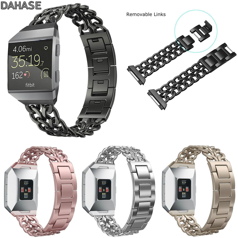 Dahase Нержавеющаясталь цепи часы ремешок для fitbit ионной ремень съемный металлический замена Браслет для fitbit ионной группы