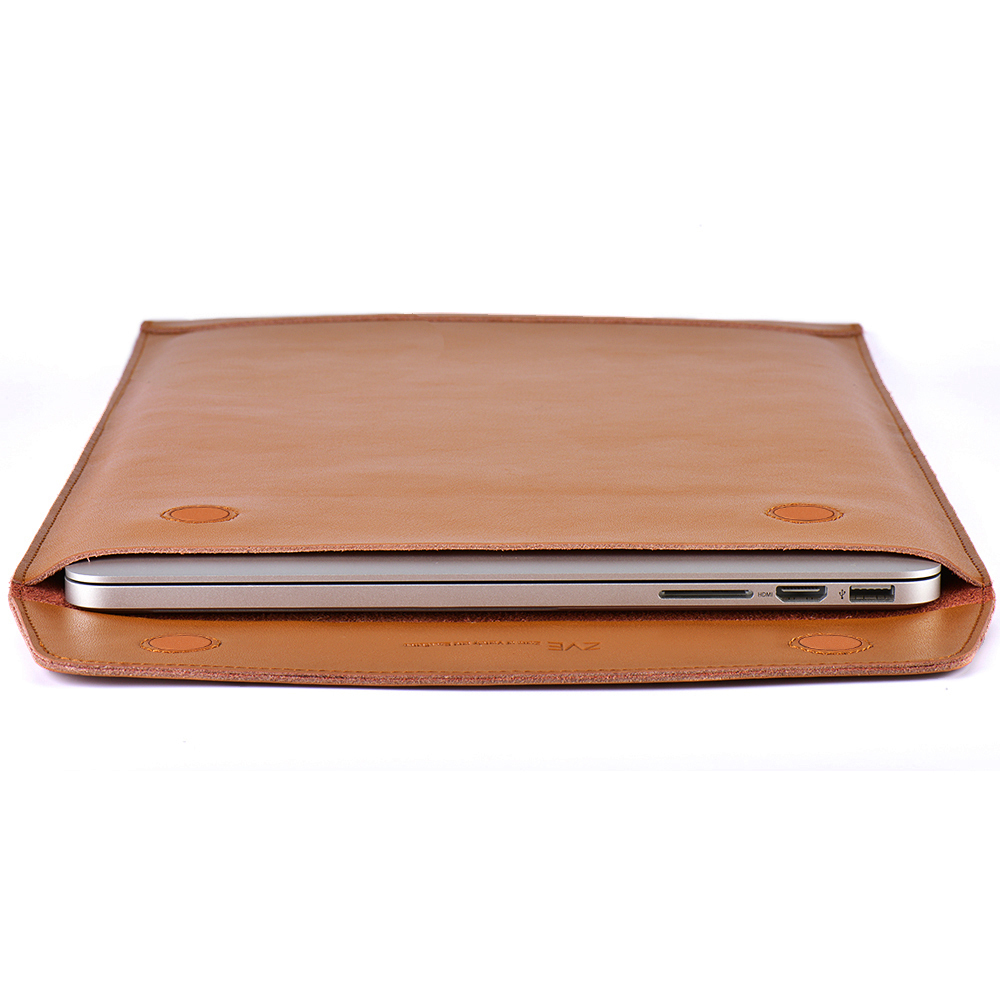 online store 16c41 5d4bc US $28.99 |ZVE Leather Laptop Cover Case For Macbook Pro/Air/Retina  Notebook Sleeve bag 11