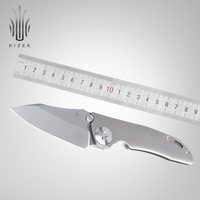 Kizer facas de caça faca sobrevivência faca titânio alta qualidade ao ar livre ferramenta edc ki4473 gpb1|Facas| |  -