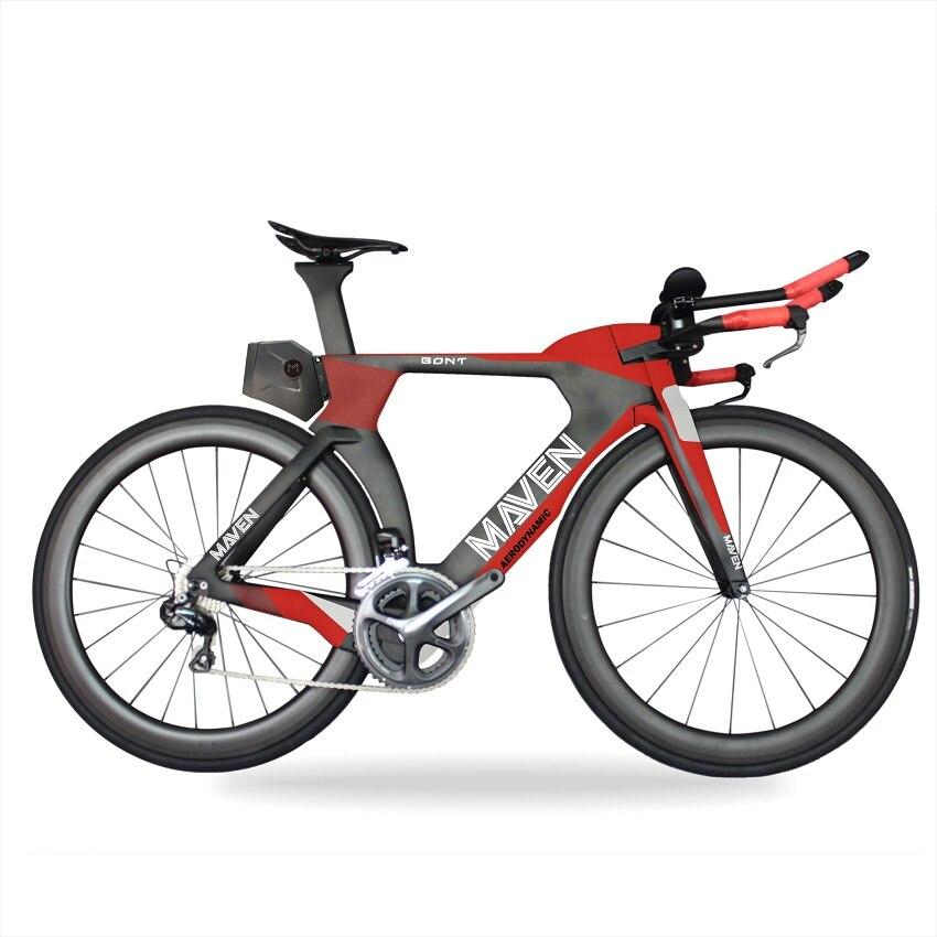 MIRACLE AERO Traithlon bikes 2018 New 700c Carbon Time Trial Frame 1-1/8 steerer tube Carbon tt frame 48/51/54/57cm цена