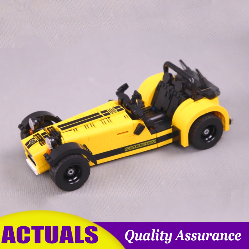 Supercar Caterham Seven 620R 21307 Technic Building Blocks Yellow Racing Model Bricks DIY Car Toys