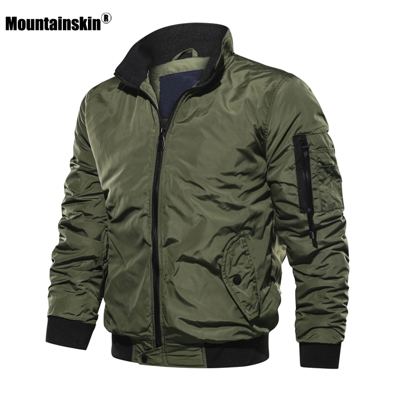 Mountainskin New Men's Jackets Autumn Winter Military Coats Fashion Army Casual Outerwear Male Jacket Mens Brand Clothing SA707