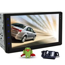 "Rear Camera+7"" Full-Touchscreen Android 5.1 Car Tablet PC Double 2Din In Dash Car Radio Stereo GPS Navigation No-DVD mp3 Player"
