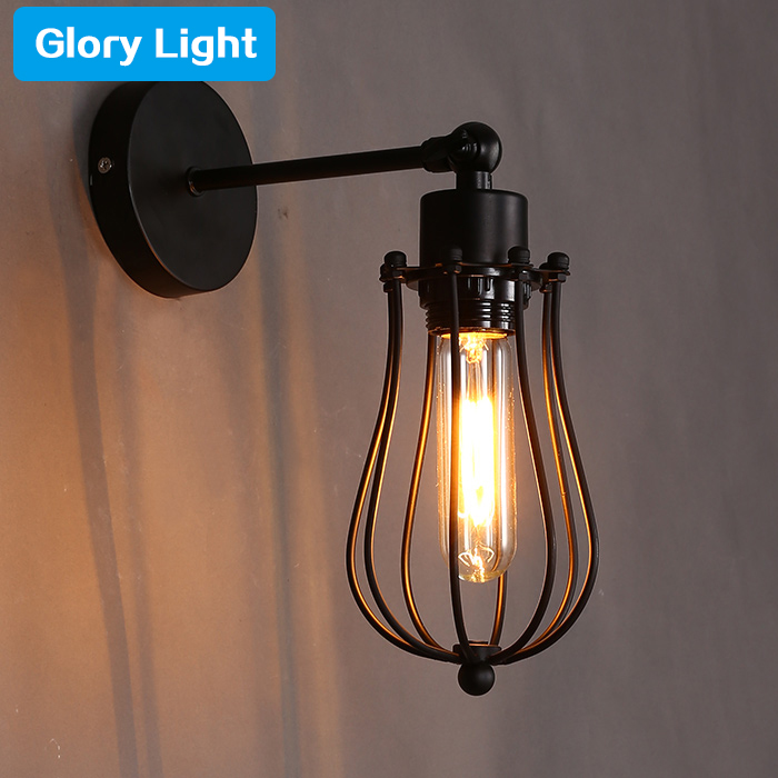 ФОТО Glory Light Vintage American style iron wall lamp balcony pomeloes bird cage metal wall lights e27 bedroom cafe bar lighting
