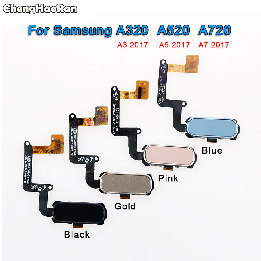 Chenghaoran Fingerprint Sensor Flex-Cable Menu-Button A320 Samsung Galaxy ID Key