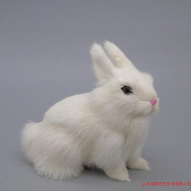 Model Simulasi Kelinci Mainan Polyethylene Bulu Kelinci Putih Kecil Hadiah Sekitar X