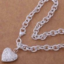 AN752 Модные оптовая серебряное Ожерелье, 925 серебряных ювелирных изделий Стереоскопический шаблон в форме сердца/cdlakusa hbhapsoa