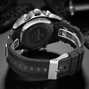 Image 5 - موضة الرياضة سوبر كول الرجال كوارتز ساعة رقمية الرجال الساعات الرياضية HPOLW العلامة التجارية الفاخرة LED العسكرية مقاوم للماء ساعات المعصم