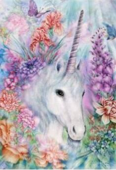 Cross Stitch Kit Embroidery Package Horse Flower Package