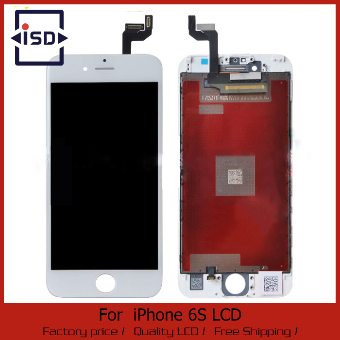 10PCS LOT LCD Display For Apple iPhone 6S Touch Screen Digitizer Frame Full Set Assembly Replacement