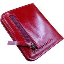 Высокое качество Натуральная кожа женщин мини кошельки леди небольшой кошелек на молнии оптовая новая мода женщина держателя карты бумажник