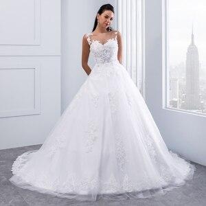 Image 2 - Miaoduo бальное платье, свадебные платья 2020, женское свадебное платье с кристаллами и поясом, свадебное платье, новинка
