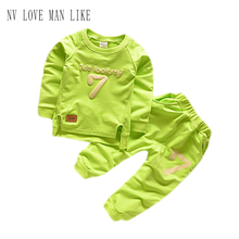 2016 Brand Autumn Children Clothing Sets Boys Girls Warm Long Sleeve Sweaters+Pants Fashion Kids Clothes Sports Suit for Girls
