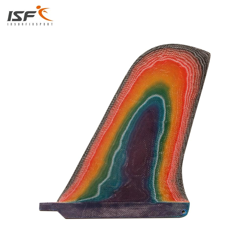 Livraison gratuite vente chaude 10 ''pouces longboard fin couleur fibre de verre Paddle Board aileron sup Fin quilhas centre fin