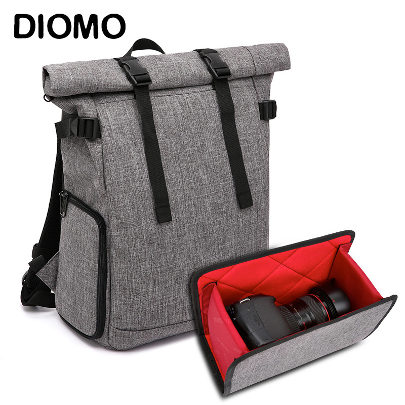 DIOMO Travel Camera and Laptop Backpack Men USB Charging Smart Travel Backpacks Anti Theft High Quality