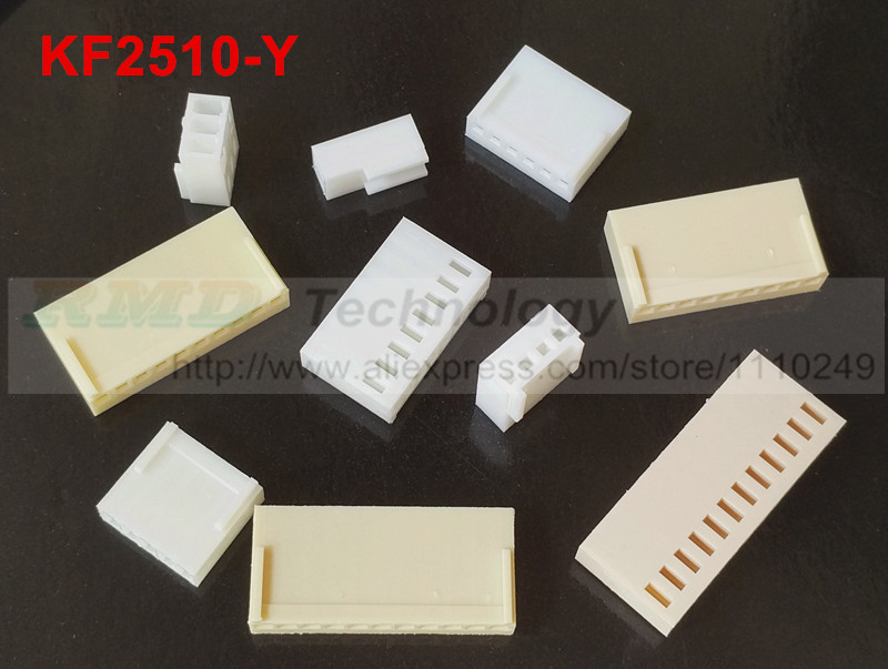 50pcs/lot KF2510 KF2510-2-12Y 2510 connectors 2.54 mm Female connector housing 2.54mm 2,3,4,5,6,8,10-12pin free shipping rolsen resc 51s