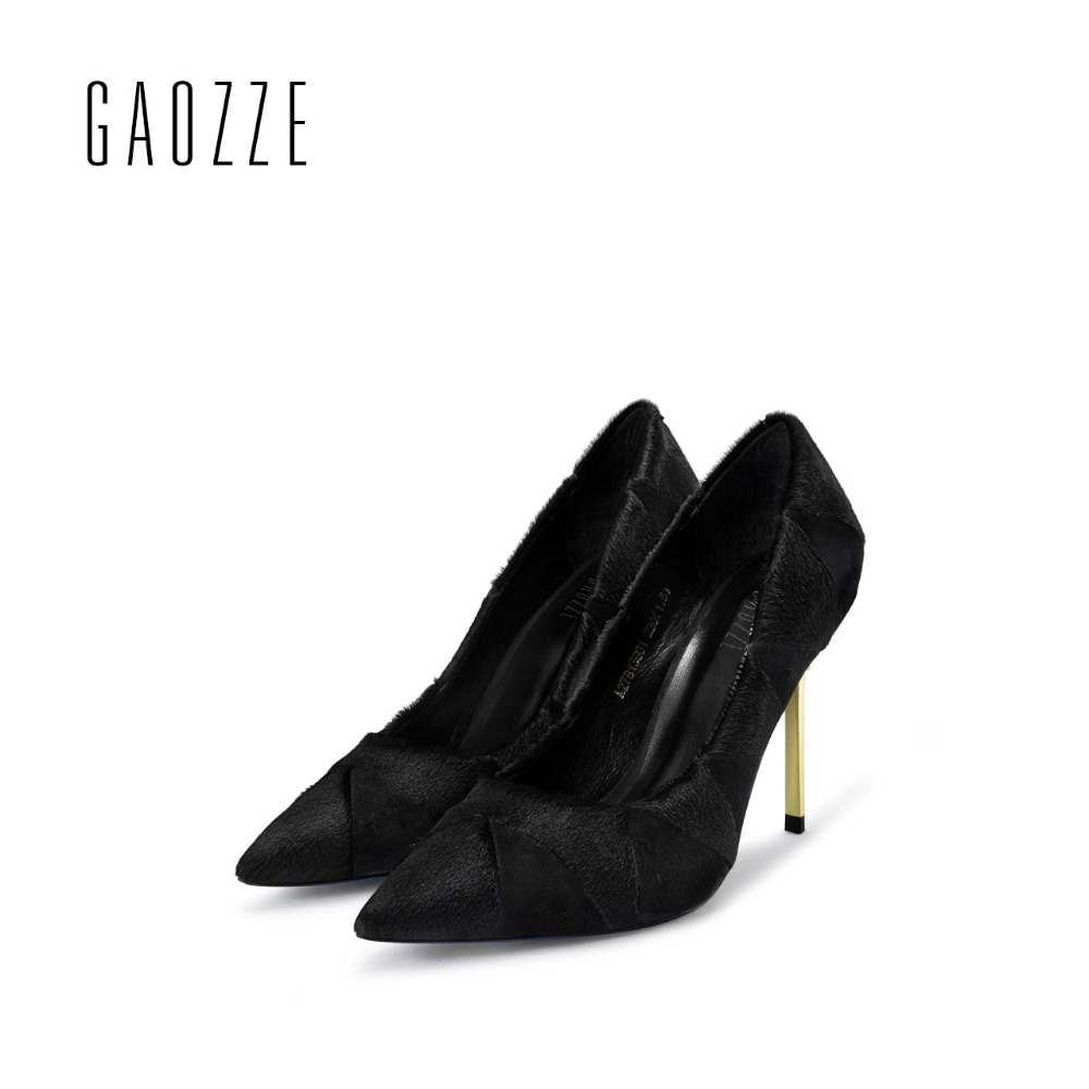 GAOZZE 2017 autumn new sexy shallow mouth thin high-heeled pumps shoes party women shoes fashion Rhinestones women's shoes burgundy gray saphire blue pink women dress party career work shoes flock shallow mouth stiletto thin high heel pumps