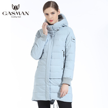GASMAN 2018 Brand Women Winter Jacket Coat Thickening Hooded Down Parka Womens Windproof Bio for