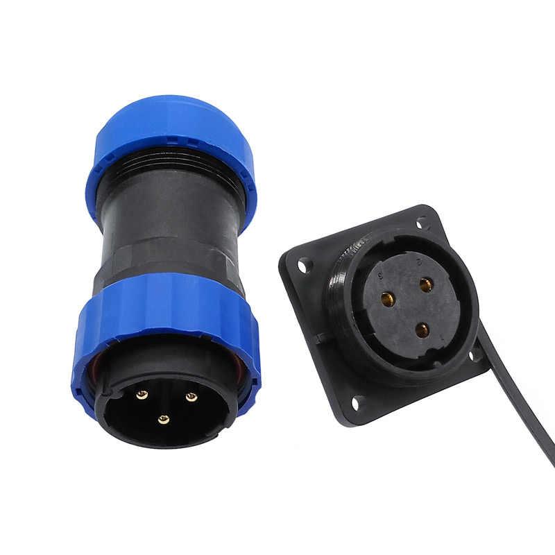 SP28 tubo corrugado conector impermeable IP68 2pin/3/4/5/6/7/9/10/12/14/16/19/22/24/26Pin