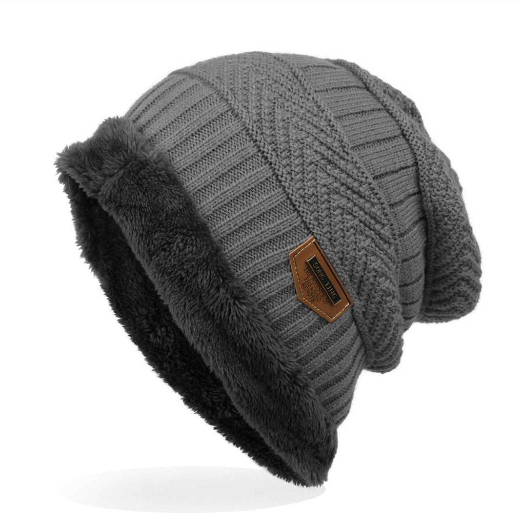 Men's Men Knitted Hats Wool Caps Winter Cap Hat Warm Soft Beanie 6 Colors