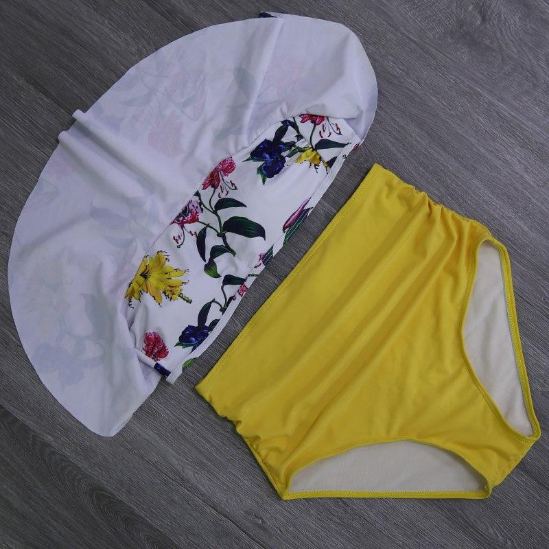 HTB1g5wacXooBKNjSZPhq6A2CXXa0 2019 New Bikinis Women Swimsuit High Waist Bathing Suit Plus Size Swimwear Push Up Bikini Set Vintage Beach Wear Biquini