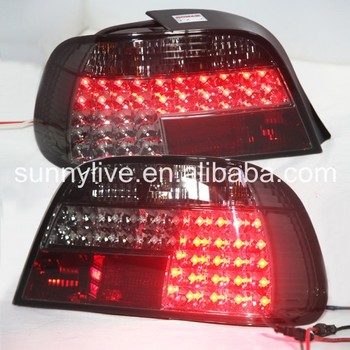 For BMW E38 728 730 735 740 750 LED Tail Lights 1995-2002 Year Smoke Black Color SN image