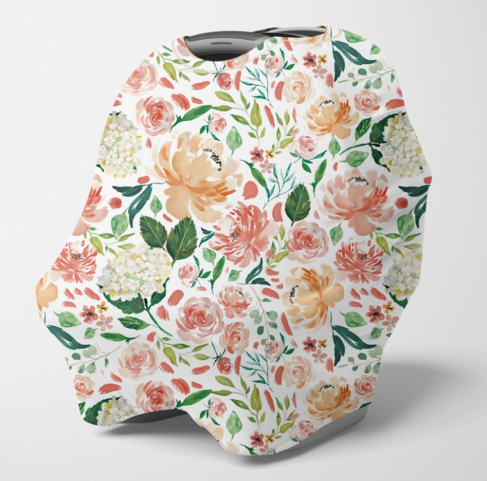 Nursing Cover Multi Use Breastfeeding Scarf-Baby Car Seat Covers, Infant Stroller Cover, Carseat Canopy For Boys (Secret Garden)