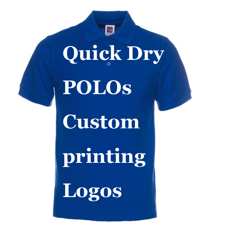 Custom Printing Logos Name Quick Dry   polo   shirts 100% Poly Breathable Perspiration   Polos   Embroidery Heat Transfer Digital Print