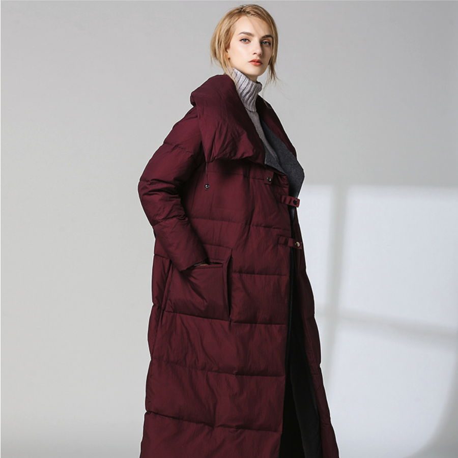 Le Grande De Doudoune Manteau Femmes Femme Dentelle Casual Et Revers Sur Taille 2018 Section Longue Femelle Genou Hiver Automne New 7rZwI7q