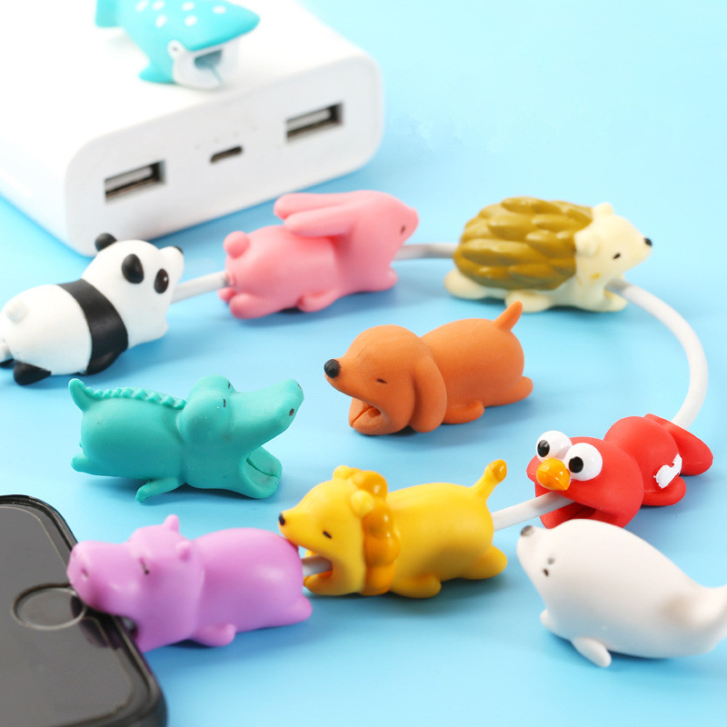 Cartoon Animals Bite Cable Data Protector Phone Accessory