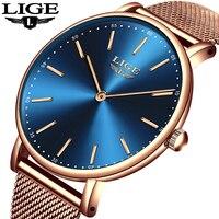 Relogio feminino женские часы LIGE лучший бренд класса люкс Женские повседневные модные часы женские водостойкие кварцевые часы zegarek damski