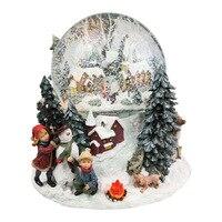 Carrossel музыка ручной Рождественская елка, хрустальный шар, музыкальная шкатулка, автоматический спрей, снежинка, светоизлучающий лампы, Окта