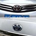 1 * Coche Que Labra Moda Delantero/Trasero Logo Insignia Emblemas Engomada de Goma Cubierta Para Toyota Camry RAV4 Corolla Prius Auris Avensis Yaris