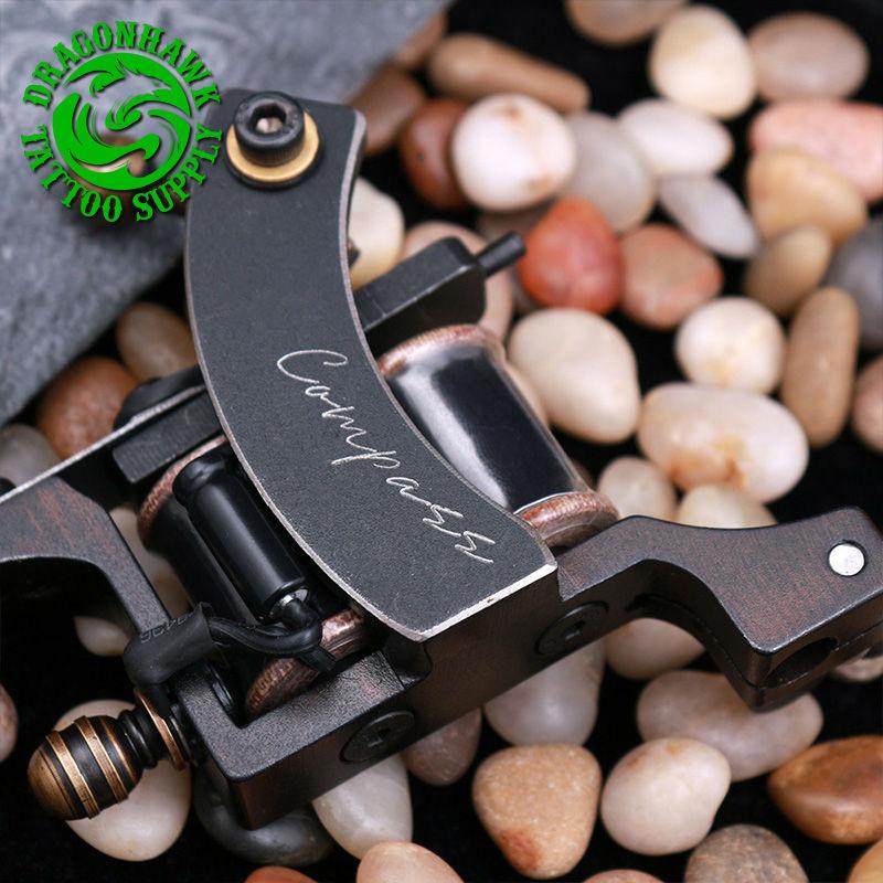 Professional Compass Tattoo Machine Liner & Shader Steel Frame Copper Coils Tattoo Gun professional compass tattoo machine liner