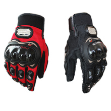 New Outdoor Sports full finger knight riding motorbike Motorcycle Gloves 3D Breathable Mesh Fabric Men Leather Gloves