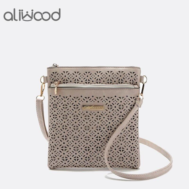520c508c5fd US $9.89 25% OFF|Aliwood New Women bag Hollow Out Crossbody bags Designer  Brands Shoulder bag 2018 Hot Sale PU leather Messenger Bags handbags-in ...