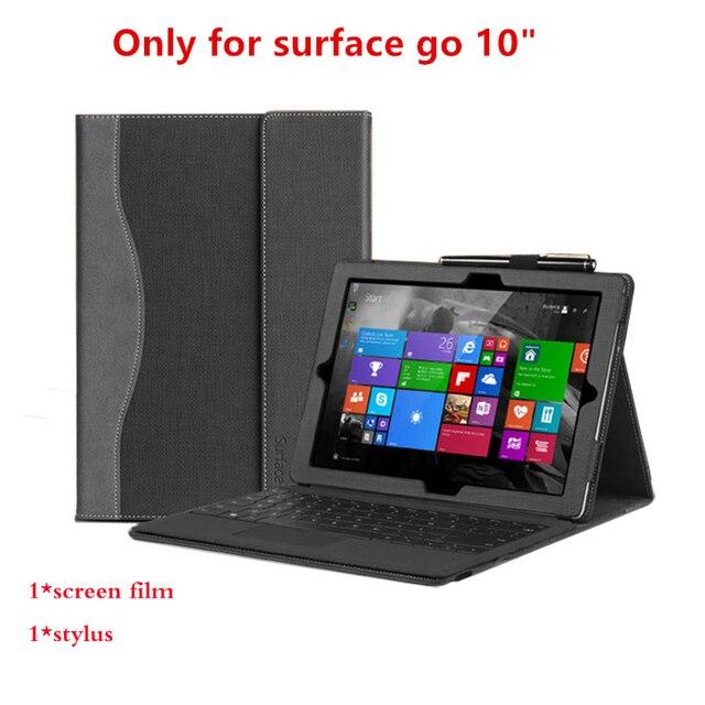 กรณีออกแบบใหม่สำหรับ Microsoft Surface Go 10 นิ้วพรีเมี่ยม PU แท็บเล็ตหนังคุณภาพสูงแล็ปท็อปโน้ตบุ๊คแป้นพิมพ์ของขวัญ