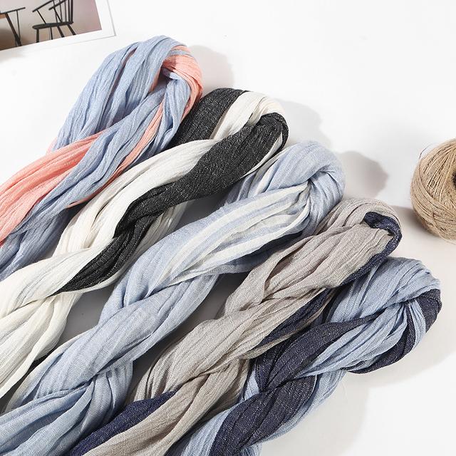 Men's Plaid, Striped With Tassel, Scarves