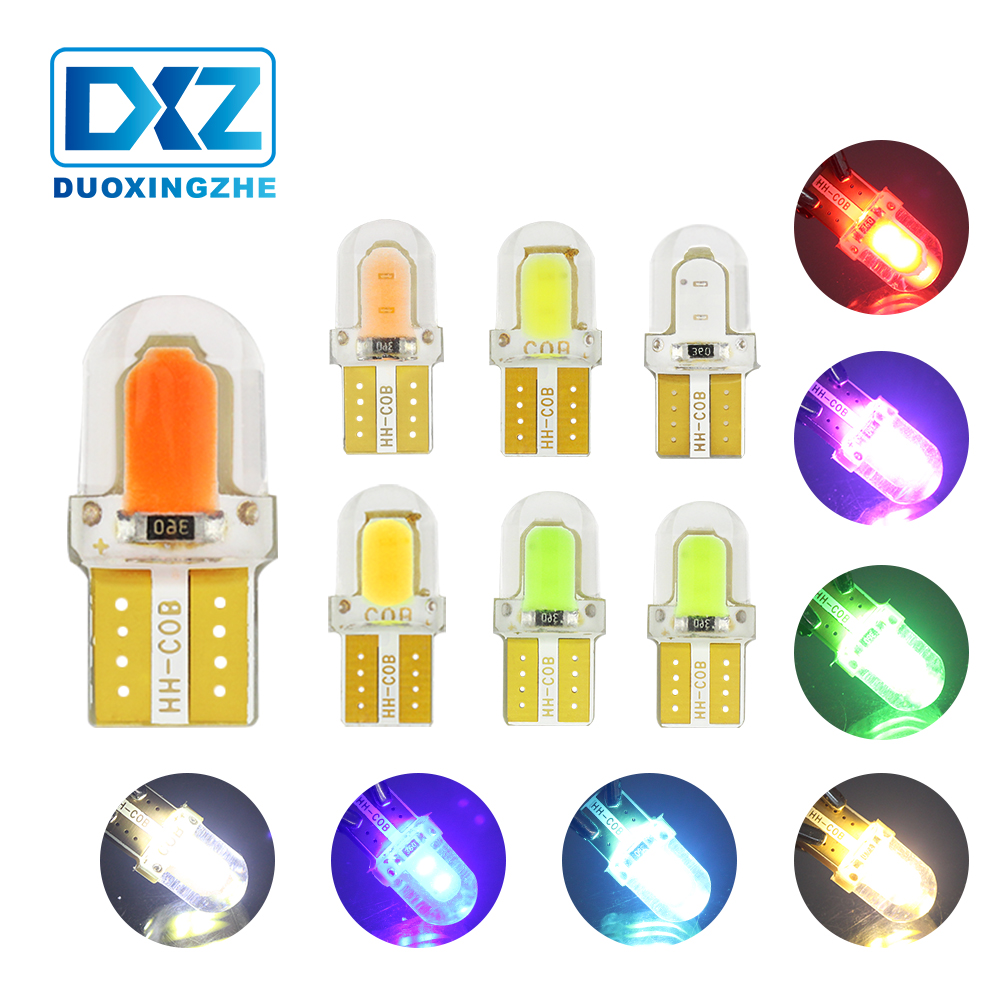 DXZ 1X T10 led canbus w5w 12v car interior light 194 168 COB Silica Auto Wedge Clearance Lamp Reading Licence Plate Bump White