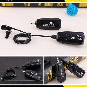 Image 5 - Новый беспроводной микрофон 2,4G с петлей, нагрудный микрофон, гитарный Пикап для динамиков, портативный аудио и видео
