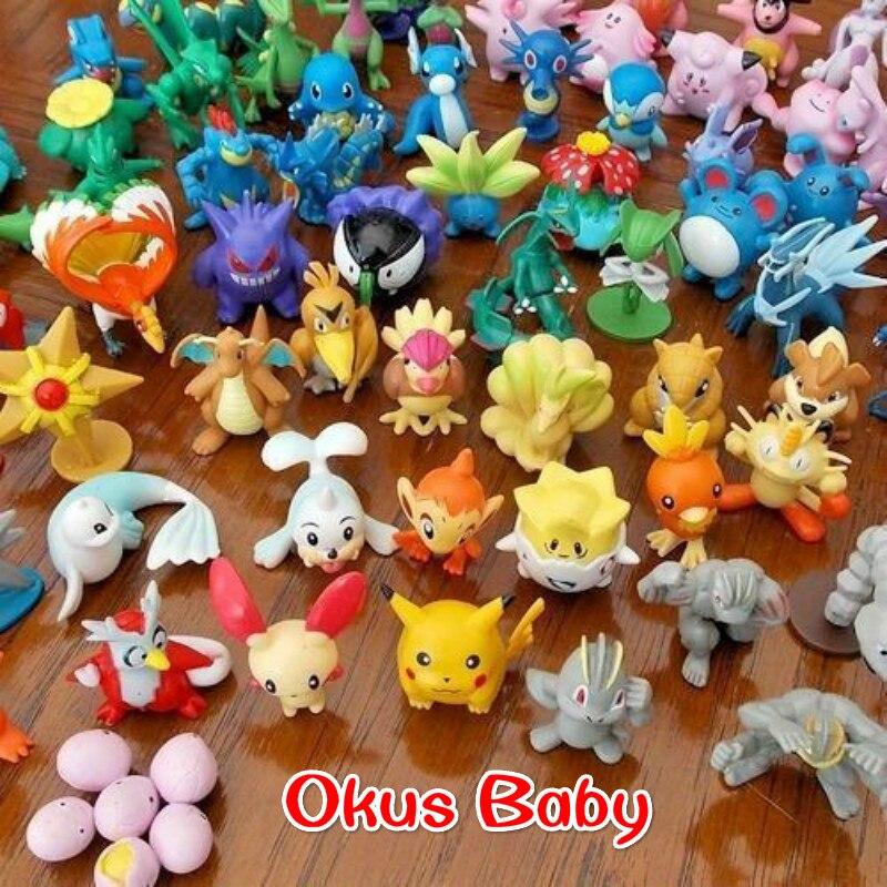 Newest 144pcs/72pcs/48pcs/24pcs Kawaii Pikachu action figure kids toys for children Birthday Christmas gifts 2-3 cm