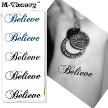 M-theory Temporary Tattoos Body Arts Small Words Flash Tatoos Stickers 10.5x6cm Waterproof Henna Tatto Bikini Swimsuit Makeup