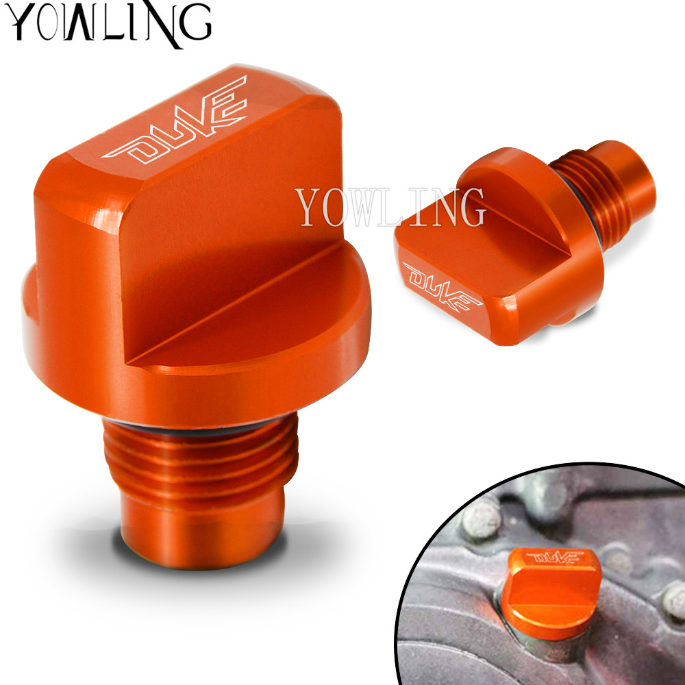 For KTM DUKE 125 200 390 DUKE 390 200 RC 125/200 /390 Motorcycle Accessories CNC Engine Magnetic Oil Drain Plug filler cap for ktm logo 125 200 390 690 duke rc 200 390 motorcycle accessories cnc engine oil filter cover cap