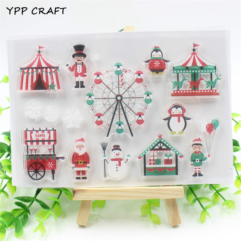 YPP CRAFT Snowman Transparent Clear Silicone Stamps for DIY Scrapbooking Planner/Card Making/Kids Crafts Fun Decoration Supplies