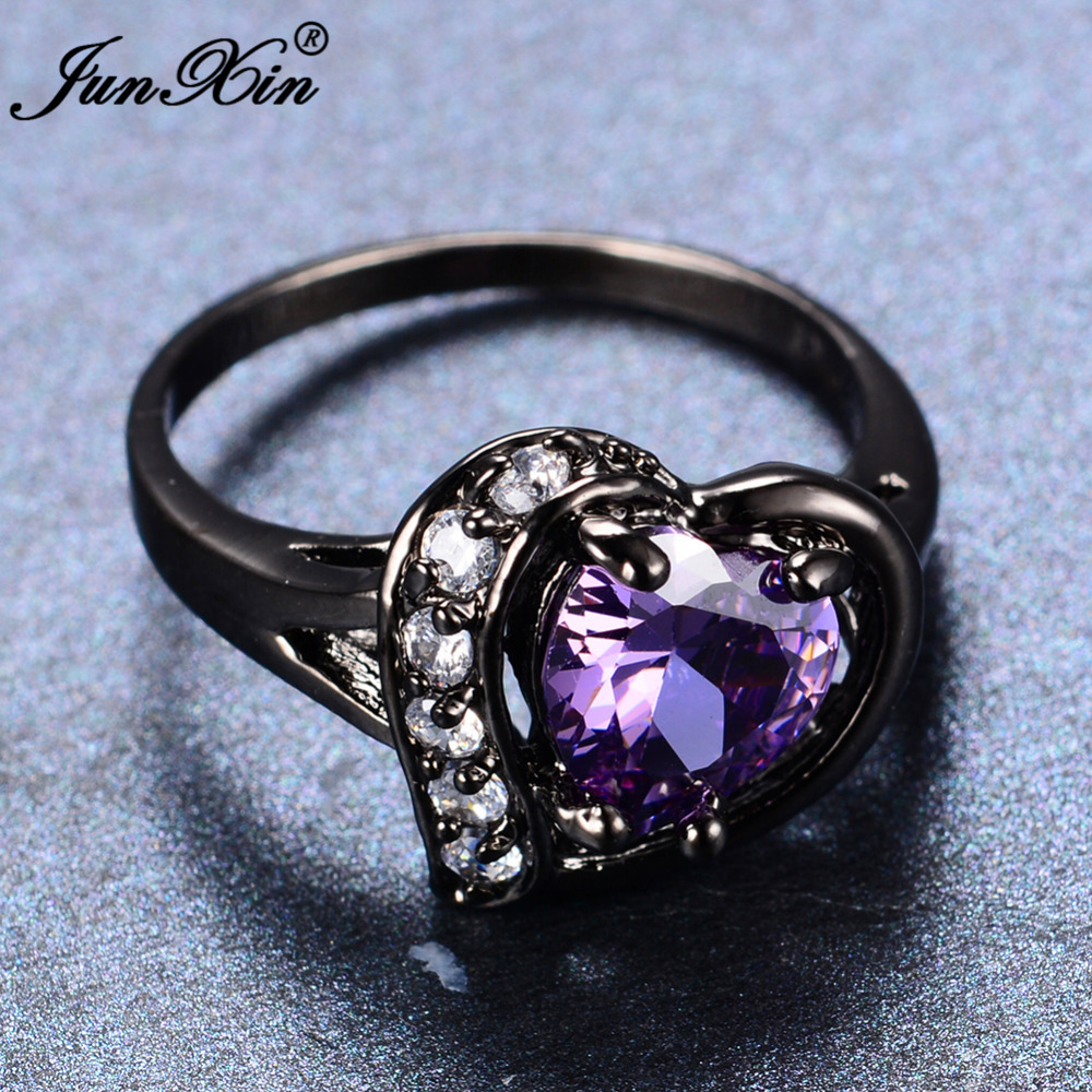 com julie halo ring rings collections purple wedding main silver in cluster shaped sterling heart leah pear engagement diamond progressive ice