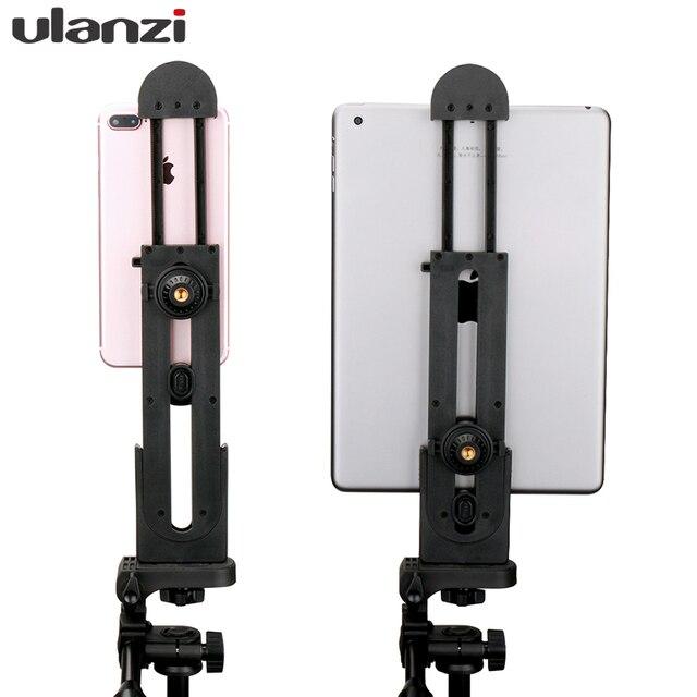 Soporte de montaje de trípode Universal para iPad Pro Mini iPad Air, adaptador de abrazadera de trípode para tableta PC Pad para iPhone 8 Samsung